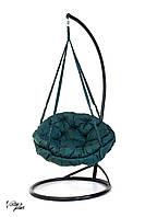 Подвесное Кресло качеля-гамак с круглой подушкой Kospa Зеленый(хаки) (120 кг)