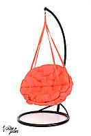 Подвесное Кресло качеля-гамак с круглой подушкой Kospa Кораловый (200 кг)