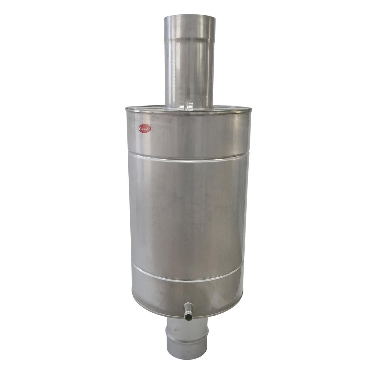 Труба-бак ø140 мм 70 л 1 мм AISI 321/304 Stalar для нагріву води для димоходу сауни бані із нержавіючої сталі