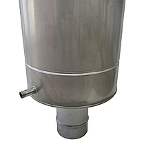 Труба-бак ø140 мм 70 л 1 мм AISI 321/304 Stalar для нагріву води для димоходу сауни бані із нержавіючої сталі, фото 3