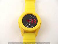 Электронные часы Adidas LED TOUCH WATCH 013476 желтые с красной подсветкой