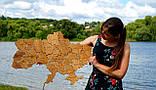 Деревянная карта Украины с LED подсветкой  50 * 75 см из дубовой ламели, фото 4