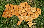 Деревянная карта Украины с LED подсветкой  50 * 75 см из дубовой ламели, фото 10