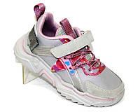 Кроссовки для девочки серого цвета, детская спортивная обувь