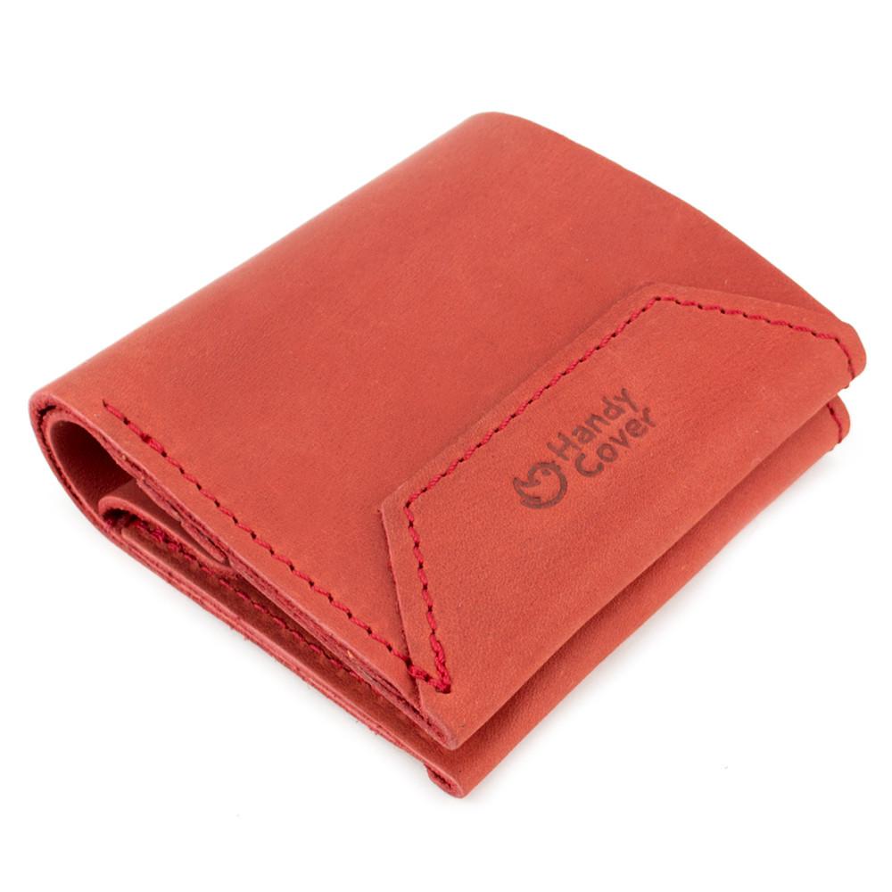 Кошелек женский кожаный на кнопке Handycover HC0088 красный