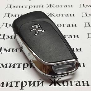 Оригинальный корпус для выкидного ключа PEUGEOT (Пежо) 307, 208, 308 после 2011 года, 3 - кнопки, фото 2