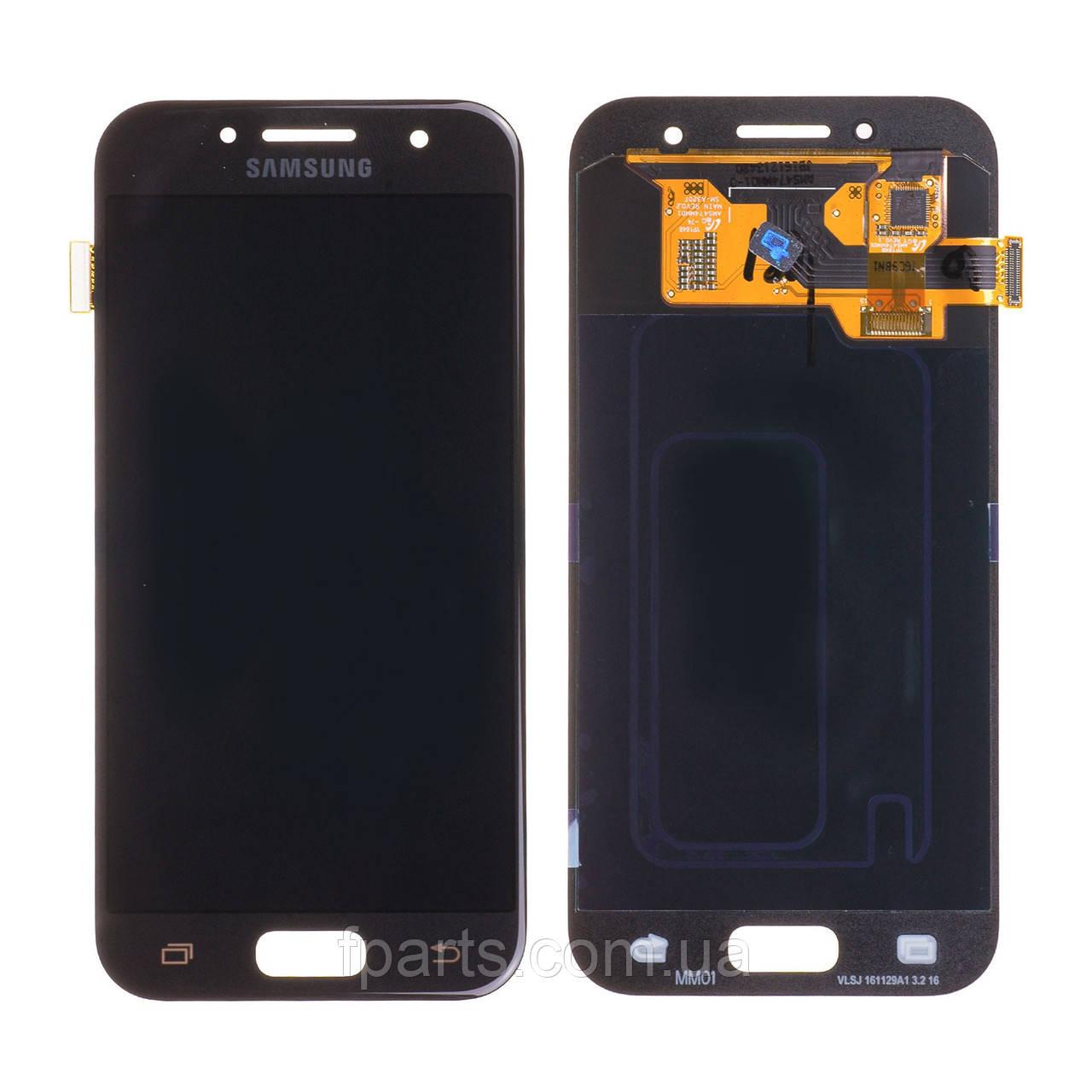 Дисплей для Samsung A320 Galaxy A3 2017 с тачскрином, Black (Original PRC)
