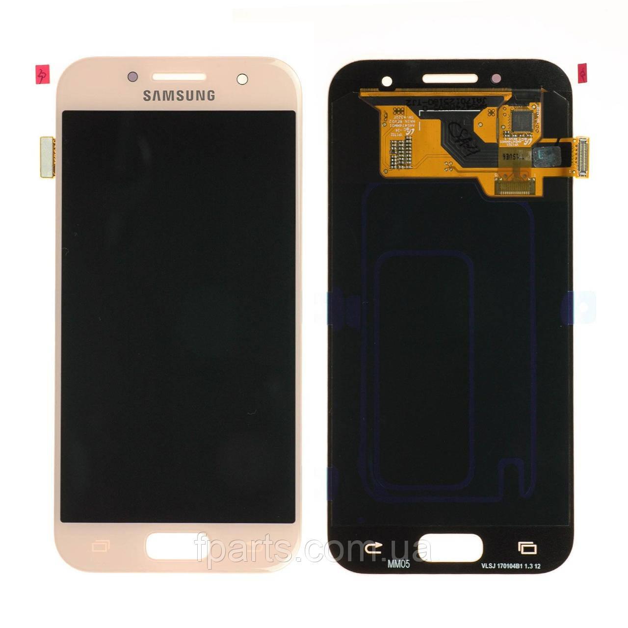 Дисплей для Samsung A320 Galaxy A3 2017 з тачскріном, Pink (Original PRC)