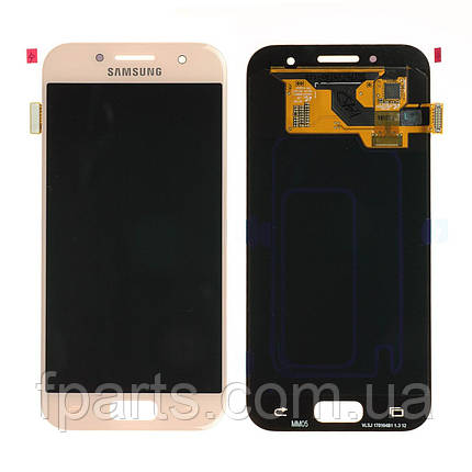 Дисплей для Samsung A320 Galaxy A3 2017 з тачскріном, Pink (Original PRC), фото 2
