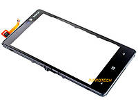Сенсор (тачскрин) Nokia Lumia 820 с рамкой Black