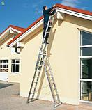 Алюминиевая трехсекционная универсальная лестница 3 х 7 ступеней, фото 6