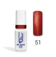 "Гель-Лак №051 Red Dark Shimmer (темно-красное сияние) UV/LED ""Gelliant"" 5 мл."