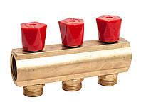 """Гребенка коллекторная с регулирующими вентилями 1""""х3/4"""" 3 вых. ASCO Armatura"""