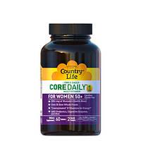 Вітамінно-мінеральний комплекс Core Daily 1 women's 50+ 60 таблеток ТМ Кантрі Лайф / Country Life