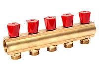 """Гребенка коллекторная с регулирующими вентилями 1""""х3/4"""" 5 вых. ASCO Armatura"""