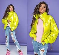 Яркая утепленная  женская куртка 42-44,46-48 50-52,54-56, фото 1