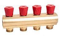 """Гребенка коллекторная с регулирующими вентилями 1""""х3/4"""" 4 вых. ASCO Armatura"""
