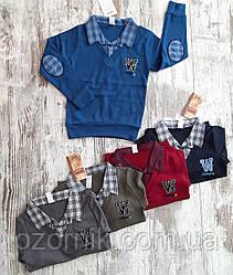 Оптом Пуловер Обманка Х/Б Хлопчик 9-12 років Туреччина