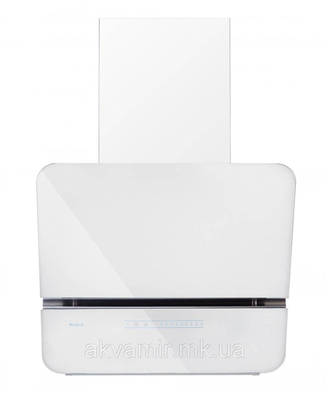 Вытяжка Borgio RNT-LX 60 SU (белое стекло, белый сенсор, 1300 м/куб)