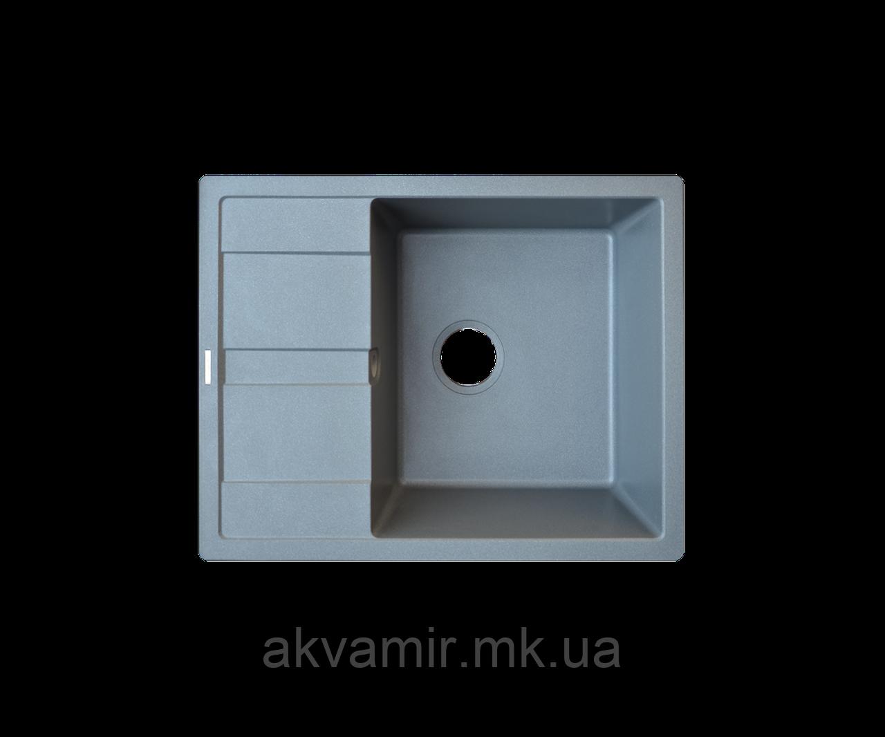 Кухонна мийка Borgio (граніт) PRC-650x500 (сірий металік)