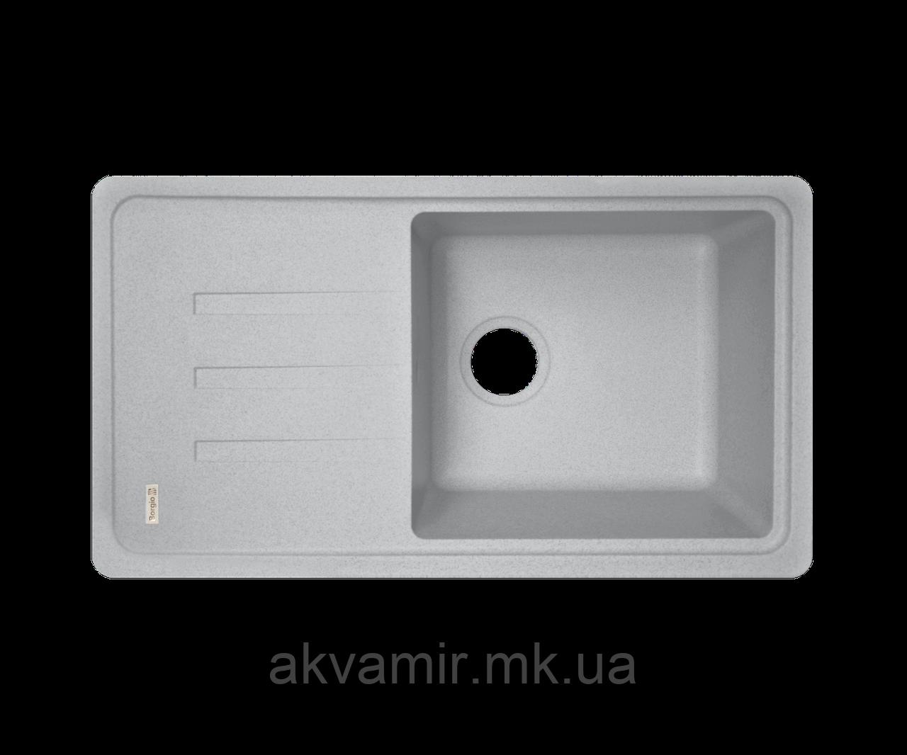 Кухонна мийка Borgio (граніт) PRC-780x435 (сірий камінь)