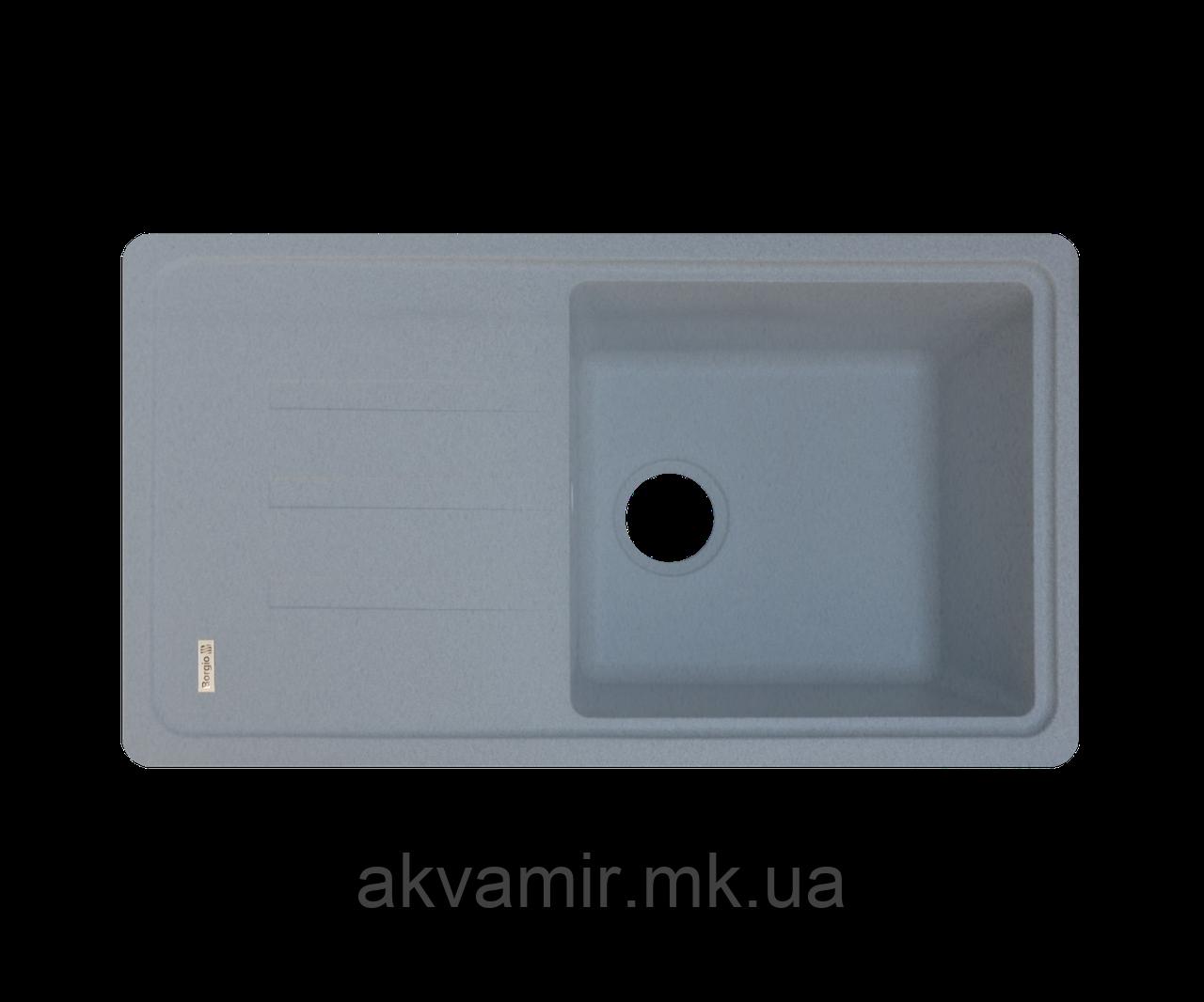 Кухонная мойка Borgio (гранит) PRC-780x435 (серый металлик)