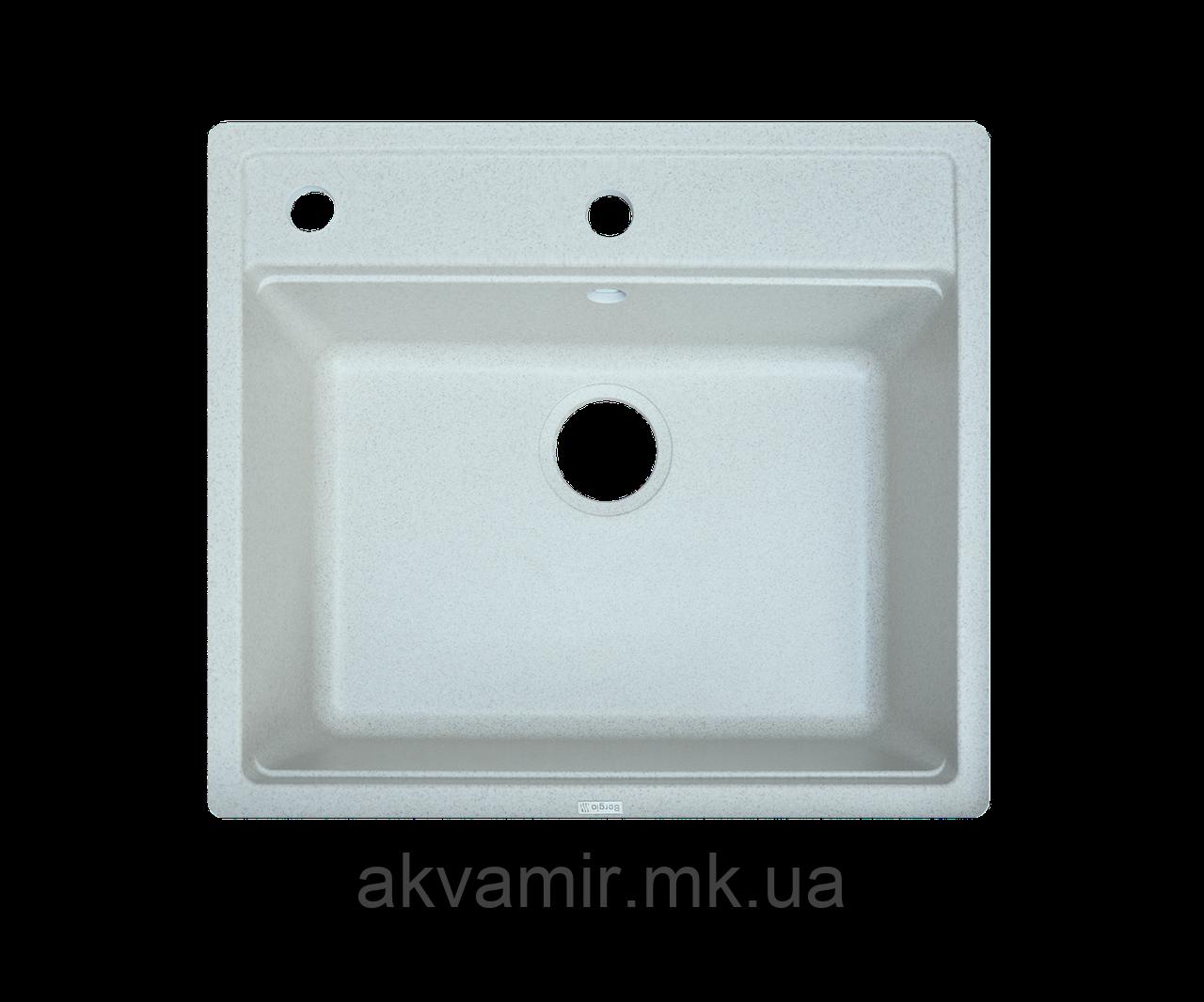 Кухонная мойка Borgio (гранит) Q 570x510 (серый камень)