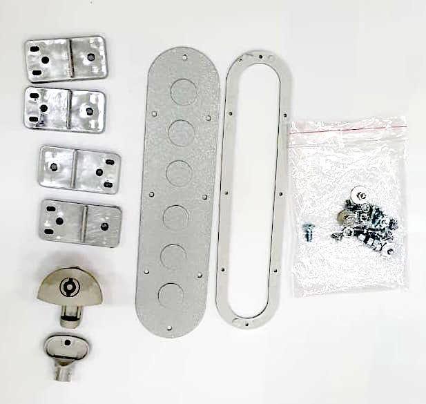 Щит монтажный навесной электрический распределительный с монтажной панелью (ящик / щиток) на стену класс защиты IP40