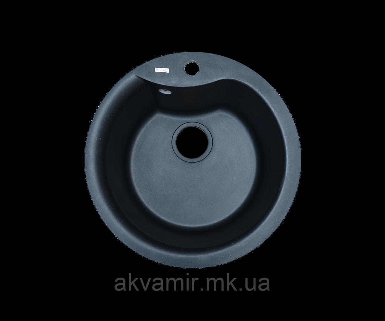 Кухонная мойка Borgio (гранит) ROC-490 (черный)