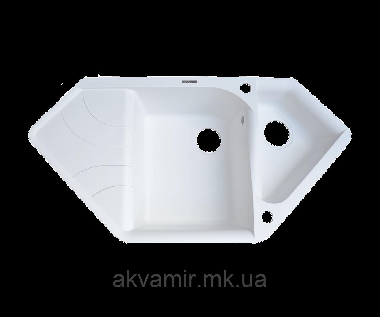 Мойка кухонная TRZ 1000x500 (белый)