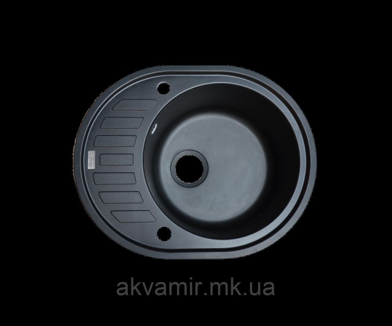 Кухонная мойка Borgio (гранит) OVM-620x500 (черный)