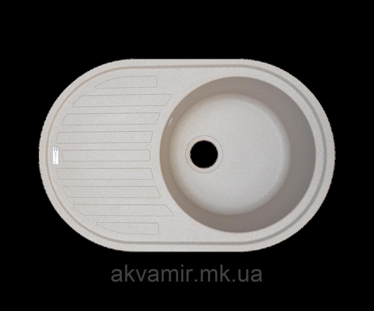 Кухонная мойка Borgio (гранит) OVM-770x500 (песчаный)
