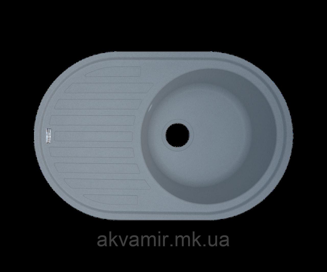 Кухонная мойка Borgio (гранит) OVM-770x500 (серый металлик)