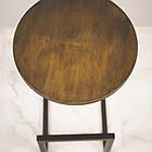 Барный круглый стул из металла и натурального дерева, фото 7