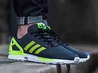 Мужские кроссовки Adidas ZX FLUX  44, черно-зеленый