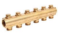 """Гребенка коллекторная с отсекающими вентилями под ключ 1""""х3/4"""" 6 вых. ASCO Armatura"""