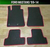 ЕВА коврики на Ford Mustang '05-14. Ковры EVA Форд Мустанг, фото 1