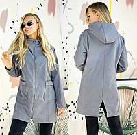 Куртка из плотной ткани с капюшоном женская (ПОШТУЧНО)