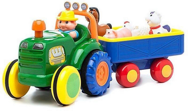 Іграшка KiddielandPreschoo Трактор з трейлером l g024753