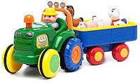 Игрушка KiddielandPreschoo Трактор с трейлером l g024753