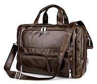 Кожаная стильная офисная сумка  7289C, фото 1