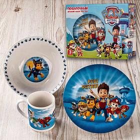 Набор детской посуды Щенячий патруль 3 предмета Фарфор Interos 4346