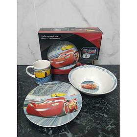 Набор детской посуды Тачки Маквин 3 предмета Фарфор Interos 4848-2