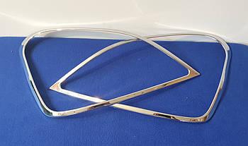 Хромированные накладки на передние фары LEXUS LS 430