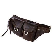 Кожаная сумка на пояс, брутальный стиль 3014R-2, фото 1