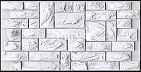 Листова панель ПВХ на стіну Регул, Камінь (Пиляний справжній Білий)