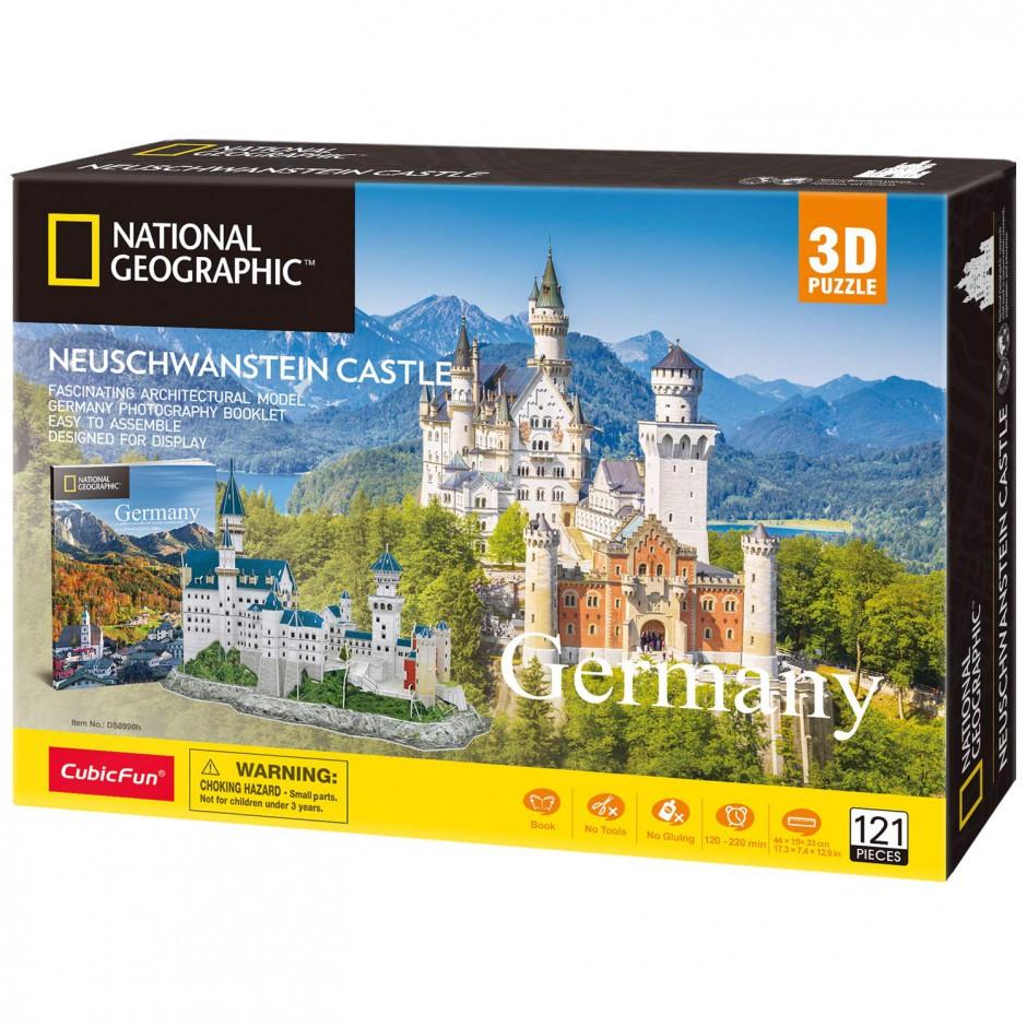 "Трехмерная головоломка-конструктор national geographic ""Замок Нойшванштайн"" Cubic Fun (DS0990h)"