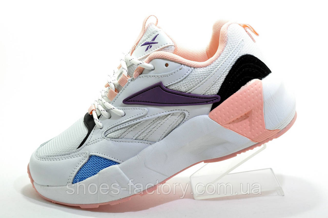 Кроссовки женские в стиле Reebok Aztrek 96, White\Pink