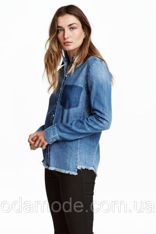Рубашка женская джинсовая h&m