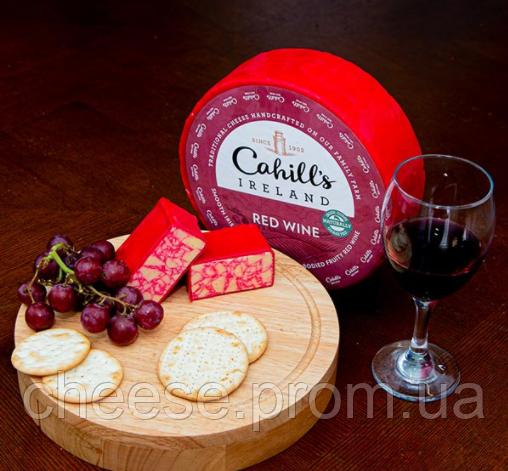 Сыр Чеддер ирландский с красным вином  51% 2.27 кг Cahill's